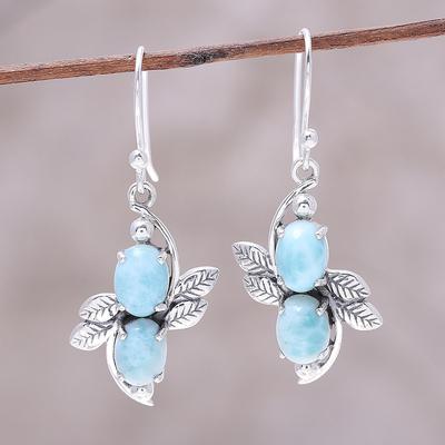 Novica Sterling silver dangle earrings, Exotic Ovals