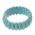 Beaded stretch bracelet, 'Cool Water' - Reconstituted Turquoise Cool Water Beaded Stretch Bracelet (image 2a) thumbail