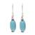 Sterling silver dangle earrings, 'Cloudless Sky' - Sterling Silver and Recon Turquoise Dangle Earrings (image 2a) thumbail