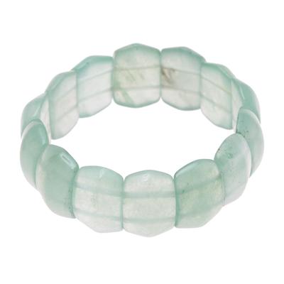 Green Whisper Aventurine Boho Beaded Stretch Bracelet