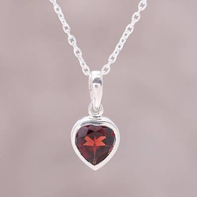 56f6ed1623b623 UNICEF Market | Sterling Silver Red Garnet Flaming Heart Pendant Necklace -  Flaming Heart