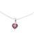 Garnet pendant necklace, 'Flaming Heart' - Sterling Silver Red Garnet Flaming Heart Pendant Necklace (image 2a) thumbail