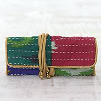 Cotton jewelry roll, 'Multicolored Keeper' - Multicolored Cotton Jewelry Roll Crafted in India
