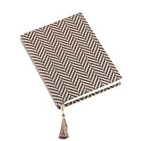 Cotton journal, 'Dancing Steps' - Zigzag Cotton Journal Handcrafted in India