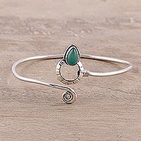 Onyx cuff bracelet, 'Modern Delhi Vibe'