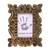 Wood photo frame, 'Mughal Majesty' (4x6) - Hand-Carved Natural Mango Wood Ornate Photo Frame 4x6 (image 2a) thumbail