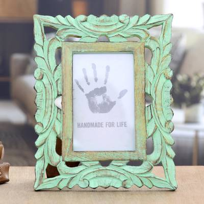 Wood photo frame, Majestic Leafy Vines (4x6)