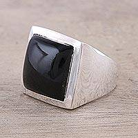 Onyx ring, 'Might'