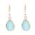 Gold plated chalcedony dangle earrings, 'Fantastic Drops' - Gold Plated 4-Carat Chalcedony Dangle Earrings from India thumbail