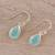 Gold plated chalcedony dangle earrings, 'Fantastic Drops' - Gold Plated 4-Carat Chalcedony Dangle Earrings from India (image 2b) thumbail