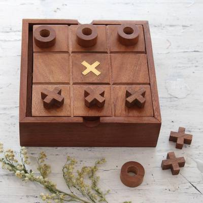 Wood And Glass 2 In 1 Board Game From India Indoor Fun