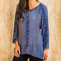 Featured review for Beaded tunic blouse Jodhpur Blossom