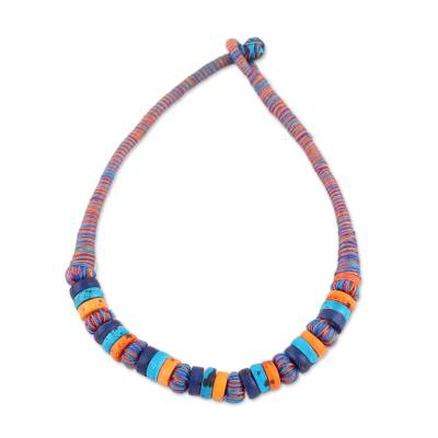 Colorful Bone Beaded Necklace from India