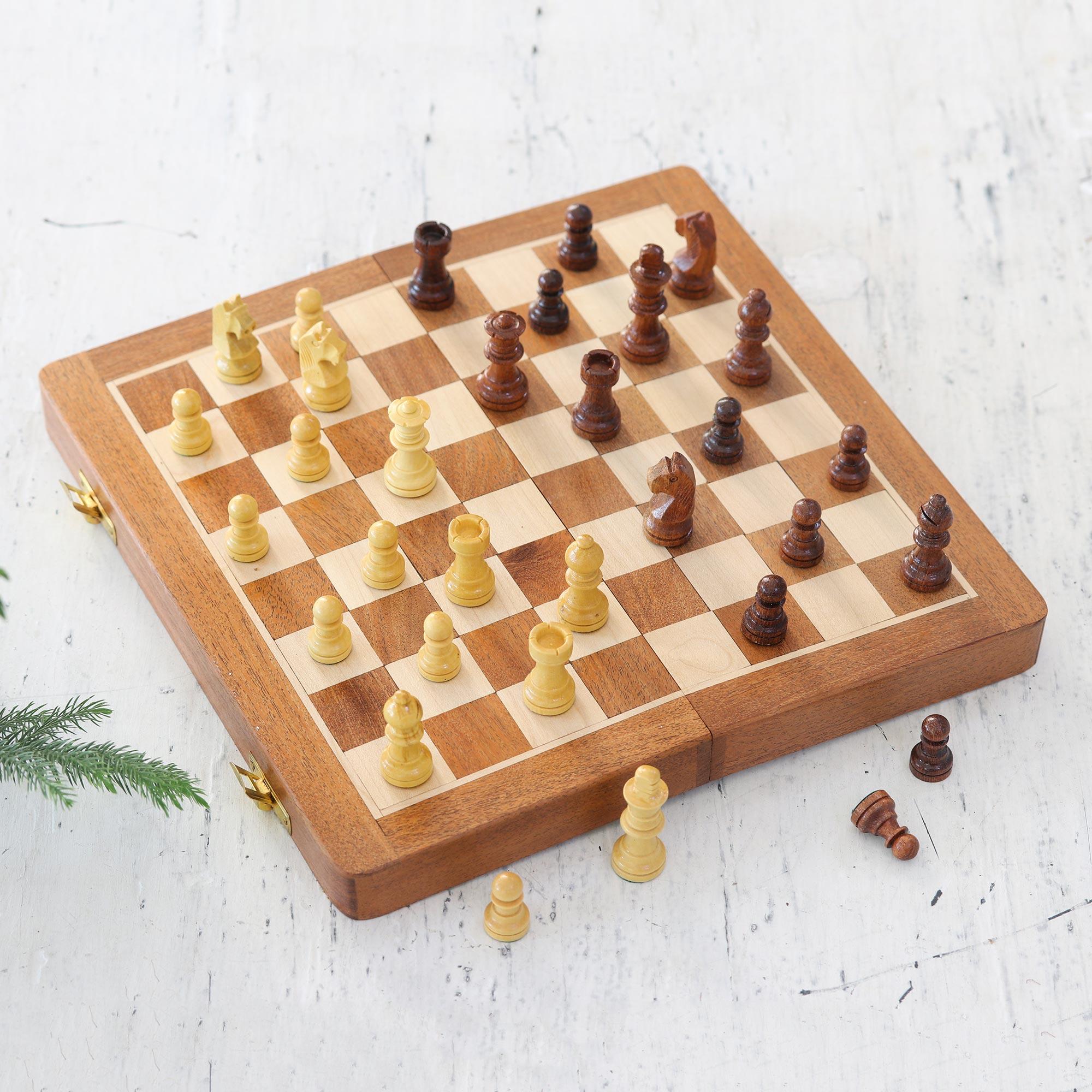 Wood chess set, 'Strategist'