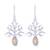 Citrine dangle earrings, 'Budding Tree' - Tree-Shaped Citrine Dangle Earrings from India (image 2a) thumbail