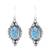 Citrine dangle earrings, 'Ocean in Sunlight' - Citrine and Composite Turquoise Earrings from India (image 2a) thumbail