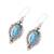 Citrine dangle earrings, 'Ocean in Sunlight' - Citrine and Composite Turquoise Earrings from India (image 2c) thumbail