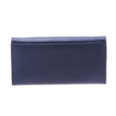 Handcrafted Midnight Blue Leather Wallet From India