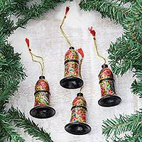 Featured review for Papier mache ornaments, Floral Cheer (set of 4)