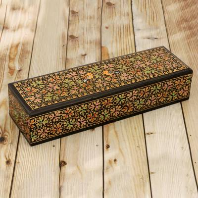 Papier mache and wood decorative box, Chinar Paradise (small)