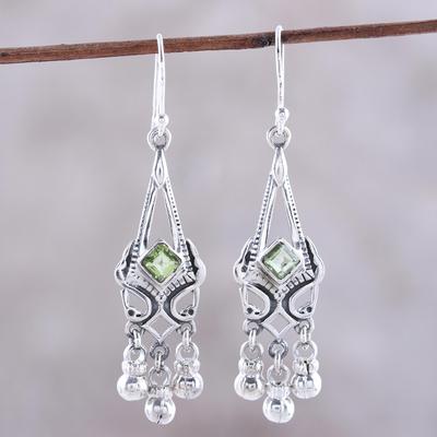 Peridot Chandelier Earrings Grace And Elegance Sterling Silver Green