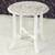Wood accent table, 'Fantastic Flowers' - Distressed Mango Wood Accent Table from India (image 2) thumbail
