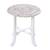 Wood accent table, 'Fantastic Flowers' - Distressed Mango Wood Accent Table from India thumbail