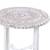 Wood accent table, 'Fantastic Flowers' - Distressed Mango Wood Accent Table from India (image 2b) thumbail