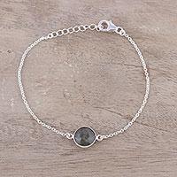 Labradorite pendant bracelet, 'Mesmerizing Night'