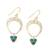 Gold plated sterling silver dangle earrings, 'Bud Arches' - Gold Plated Sterling Silver and Calcite Earrings from India (image 2c) thumbail