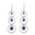 Sterling silver dangle earrings, 'Circular Beauty' - Circular Sterling Silver and Hematite Earrings from India thumbail