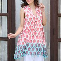 Featured review for Cotton shift dress, Strawberry Buds