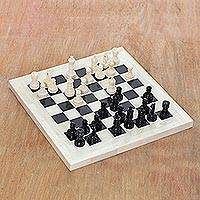 Bone and horn chess set,
