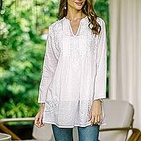 9eb2f627ae16 White Tunics for Women at NOVICA