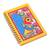 Paper journal, 'Joyful Peacock' - Paper Journal with Signed Madhubani Peacock Painting (image 2c) thumbail