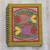 Madhubani painting journal, 'Vibrant Fish' - Handmade Paper Journal with Signed Madhubani Fish Painting thumbail