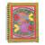 Madhubani painting journal, 'Vibrant Fish' - Handmade Paper Journal with Signed Madhubani Fish Painting (image 2a) thumbail