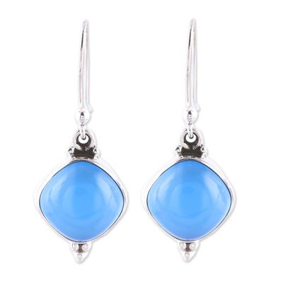 Chalcedony Dangle Earrings from India