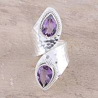Amethyst wrap ring, 'Lilac Cheer' - Six-Carat Amethyst Wrap Ring from India
