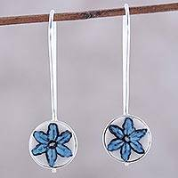 Featured review for Ceramic drop earrings, Cloudless Sky Bloom