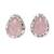 Chalcedony stud earrings, 'Soft Pink Mist' - Soft Pink Chalcedony Teardrop Stud Earrings from India (image 2a) thumbail