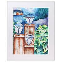 'Beaming Lights' - Signed Realist Still Life Painting from India