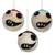 Wool ornaments, 'Whimsical Holiday' (set of 3) - Handcrafted Wool Ornaments from India (Set of 3) (image 2b) thumbail