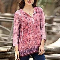 Featured review for Embroidered tunic, Antique Petal