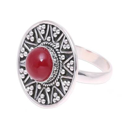 Artisan Crafted Jasper Cocktail Ring from India