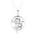 Sterling silver pendant necklace, 'Serpent and Star' - Snake and Star Sterling Silver Pendant Necklace from India (image 2c) thumbail