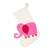 Wool felt stocking, 'Holiday Elephant in Pink' - Ivory and Pink Elephant Christmas Stocking from India (image 2a) thumbail