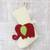 Wool felt stocking, 'Holiday Elephant in Red' - Red Green and Ivory Elephant Theme Stocking thumbail