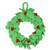Wool felt wreath, 'Holiday Celebration' - Wool Felt Holiday Wreath Handmade in India thumbail