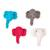 Wool felt ornaments, 'Elephant Cheer' (set of 8) - Set of 8 Assorted Wool Felt Elephant Ornaments (image 2b) thumbail